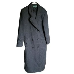 Stephanie Andrews 100% Wool Gray Trench Coat - 16